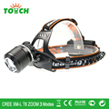 New 3800LM Waterproof LED Headlight Outdoor Lighting Head Lamp focus beam Flashlights for 18650 Rechargeable Battery