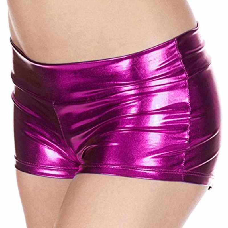Zomer Nieuwe Vrouwen PU Lederen Broek Mode Stalen Buis Dance Shorts Shiny Boxer Korte Chic Sexy Vrouwelijke Korte
