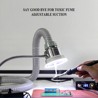 LY smoke suction instrument cellphone repair dual use exhaust fume and lighting M10106