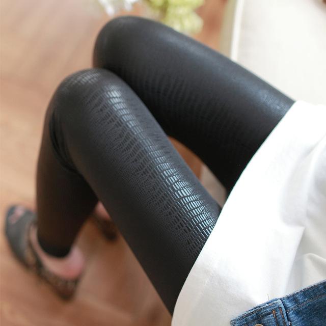 Snake-Print Faux Leather Leggings
