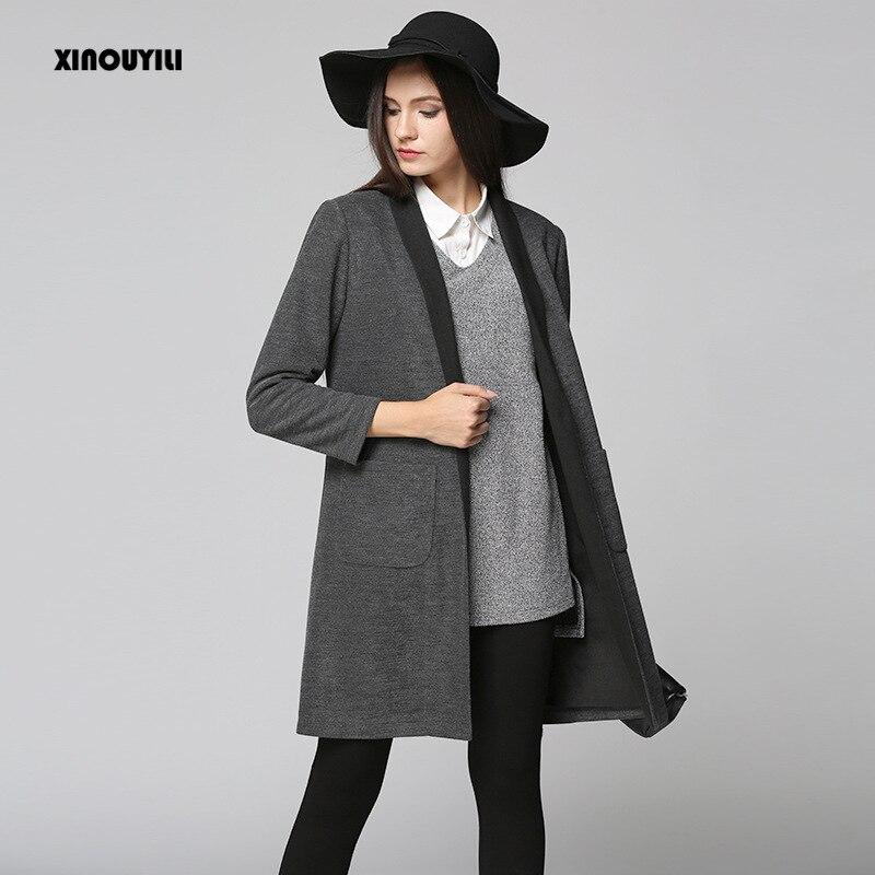 dlouhý rukáv plus velikost zimní kabát ženy 2016 podzim a zimní dámský nový dlouhý svetr casaco feminino