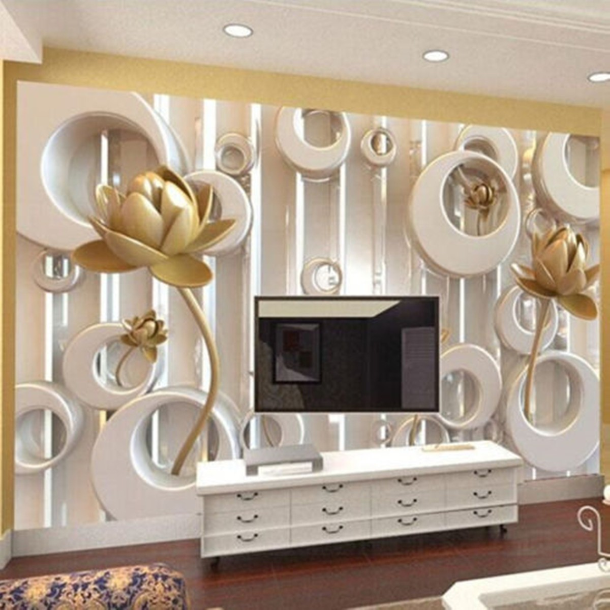 3d effect modern wallpaper bedroom mural painting luxury embossing 3d effect modern wallpaper bedroom mural painting luxury embossing gold rose soundproof wall stickers home decor embellishment in wall stickers from home amipublicfo Gallery