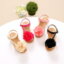 Nouveau Mode Grande Fleur D'été sandales Filles Enfants Sandales Bébé Filles Mode Coréenne Princesse Chaussures Enfants sandales