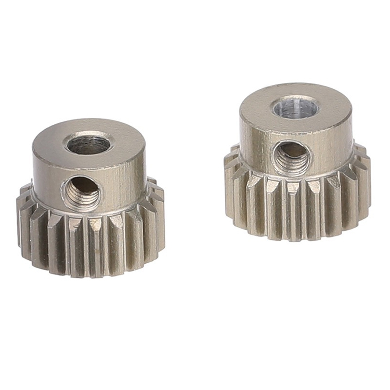 2Pcs 48DP 3.175mm 19T Motor Pinion Gear for RC Car Brushed Brushless Motor