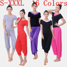 Women Ladies Cotton Harem Yoga Sport Flare Modal Pant Belly Elastic Waist Dance Club Boho Wide Leg Pants Loose Long Trousers