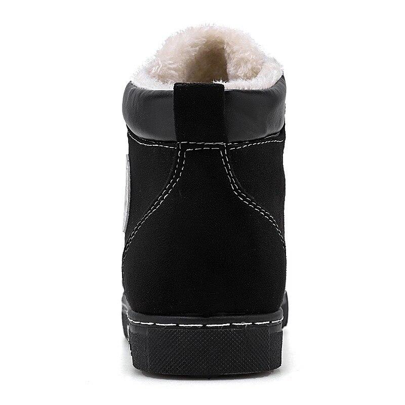 Et Bottes Hiver Hommes Chamois Printemps 2019 talon Daim Nouvelle D'hiver Velours Haute Chaussures Neige Semelle Arrivée brown De grey Plus Black awwf1qxInv