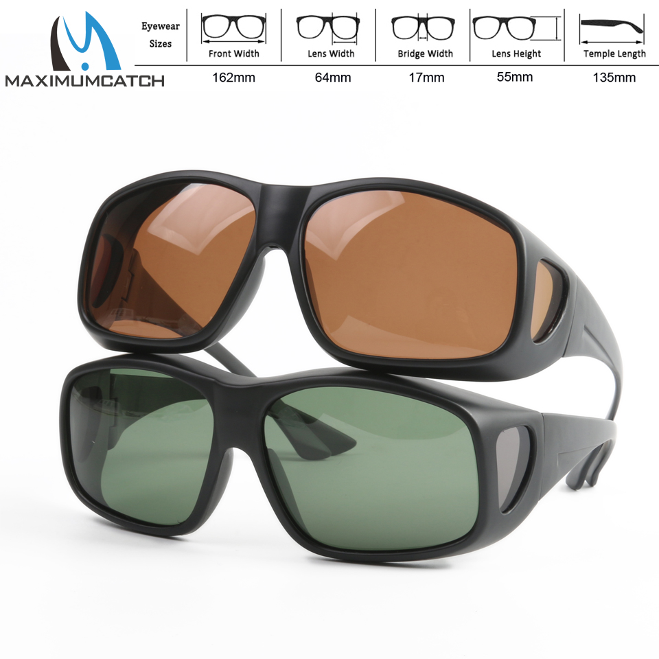 Maximumcatch Fit Over Solbriller Clip På Solbriller Polarisert Solbriller for Fiske Outdoor Sports Glasses Fishing Sunglasses