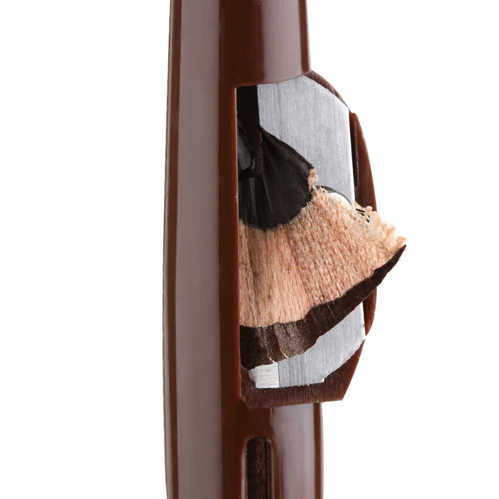 1 قطعة مقاوم للماء طويلة الأمد التميز الحاجب كحل قلم رصاص العين ماكياج أدوات التجميل البني/الأسود مع مبراة غطاء جديد