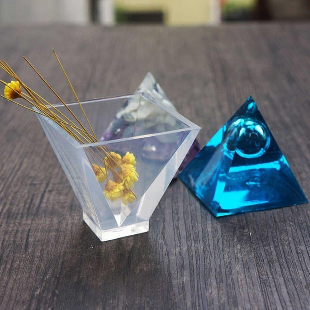 موضة الهرم شكل قالب من السيليكون صنع المجوهرات لتقوم بها بنفسك الراتنج الصب قالب الايبوكسي الحرفية