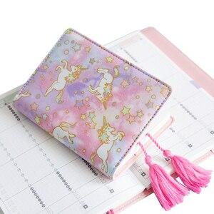 A5 A6 couleur licorne cahier peut acheter seulement la couverture ou avec des recharges école étudiant bricolage planificateur Journal école étude Journal