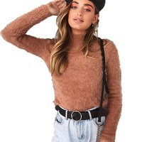 c195d04451 Fuzzy Sweater Women Venda on-line