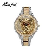 Miss Fox Brand  Women's Watches Top Brand Luxury Casual Quartz Fashion Dress watch Diamond Leopard Ladies Clock Relogio Feminino