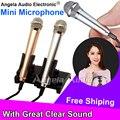 Бесплатная доставка качество металла мини-микрофон конденсаторный микрофон стерео вокальный микрофон для iPhone 6 S Skype портативных пк рабочего студия речь