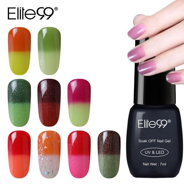 Elite99 7 ml Gel lack Nagel Gel Polnisch Chameleon Temperatur Farbwechsel Nagellack Thermische Farbe Ändern UV Gel Lack