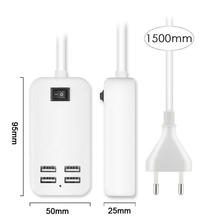 15W 4USB Charger Multi-port USB charging plug for universal charging of -iPhone smartphone