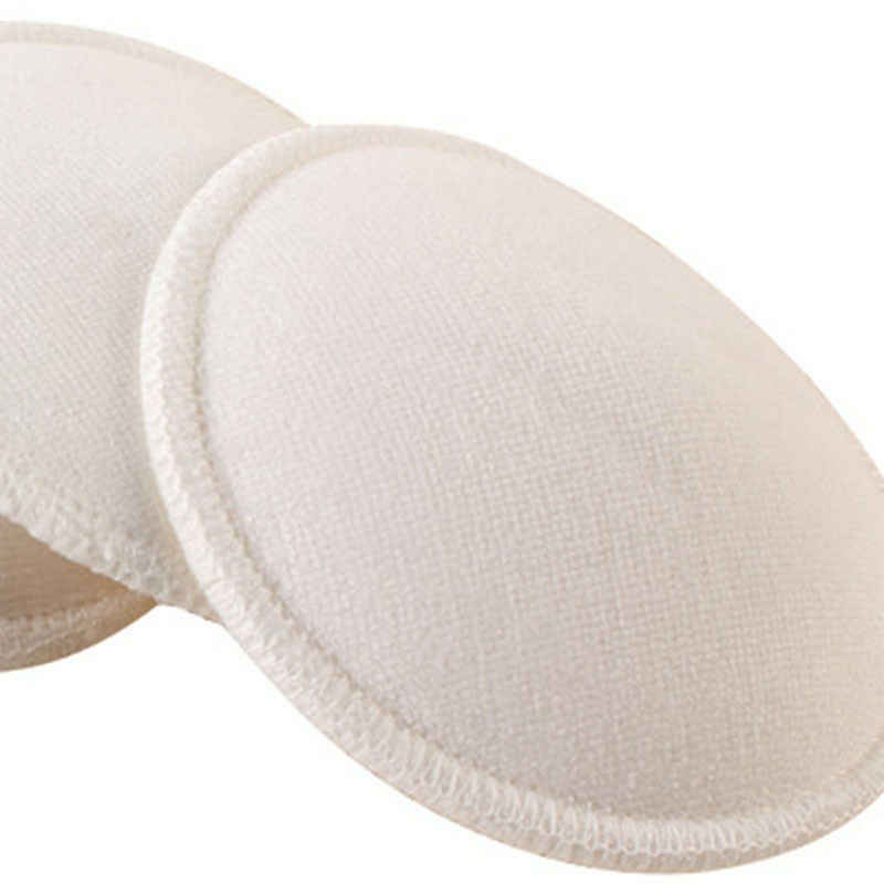 뜨거운 4x 수유 재사용 가능한 유방 간호 패드 테리 솔리드 코튼 흡수성 모유 수유