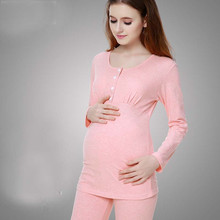 Women Big Size Full Sleeve Pregnant Clothes Maternity Sleepwear Cotton Maternal Nursing Breastfeeding Pajamas