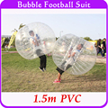 Лето Открытый Пузырь Футбол Надувные Людской Шарик 1.5 м ПВХ Воздуха Бампер Мяч Тело, пузырь Футбол Зорбе Мяч Для Продажи