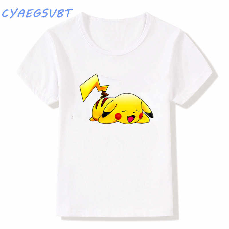 dafa735fc ... fashion Lovely Pokemon T Shirt Anime Pika Kids T-Shirts Pikachu Big Boys /Girls