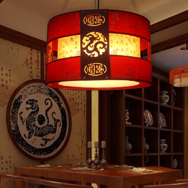 Chinese style Wooden pendant light classical dining hotel room living room bedroom study lighting red/black pendant lamp ZA ZS32 southeast asia chinese style wooden veneer pendant lights living room restaurant lamp dining room lights
