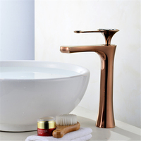 Basin Faucets 4 colors Faucet Single Hole Single Handle Basin Faucet Crystal Handle Silver Mixer Tap White Painted/rose gold