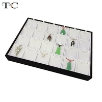 Free Shipping Jewelry Display Wholesale 2 Pcs Lot Pendant Earrings Display Tray Holder Black White 24