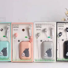 Cute Totoro In-ear Earphones With Mic 3.5mm Plug Music Universal Earplugs For Iphone Samsung Xiaomi Kids Girls Gifts(China)