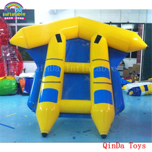 4*1.5m inflatable flying fish water boat,free air pump inflatable fly fish for water play цена в Москве и Питере