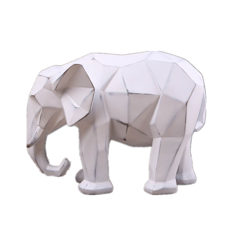 Geometry Elephant Statues Retro Animals Figurine Resin Art&Craft Nordic Home Decoration Accessories Opening Gift R670Geometry Elephant Statues Retro Animals Figurine Resin Art&Craft Nordic Home Decoration Accessories Opening Gift R670