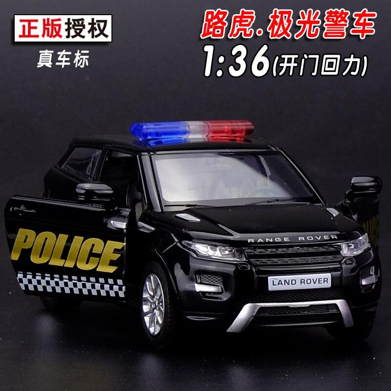 Подарок для мальчика 1:36 12.5 см Прохладный yufeng Range Rover Evoque полицейского автомобиля патруль Wagon сплава Модель Коллекция детей день рождения игр...