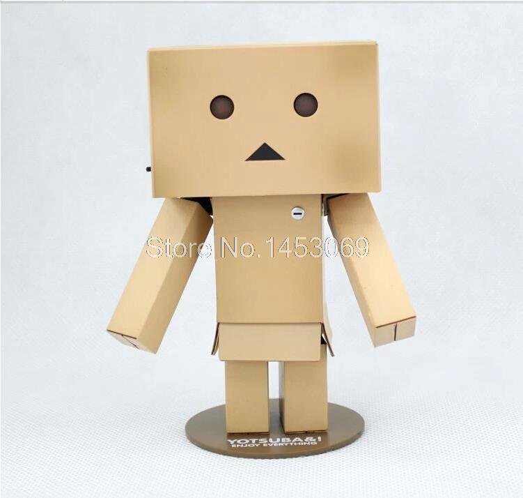 Free Shipping New 2013 Lovely Danboard Danbo Doll PVC Action Figure Toy with LED light 13cm OTFG019