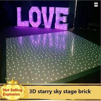 Star effect gravity sensing LED floor lamp stage lighting KTV led brick light dmx led dance floor 50*50cm Romantic wedding props