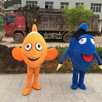 Personaje de Dibujos Animados caliente trajes de la mascota De Encontrar Nemo pez Payaso anime carnival/escuela del vestido de lujo adulto
