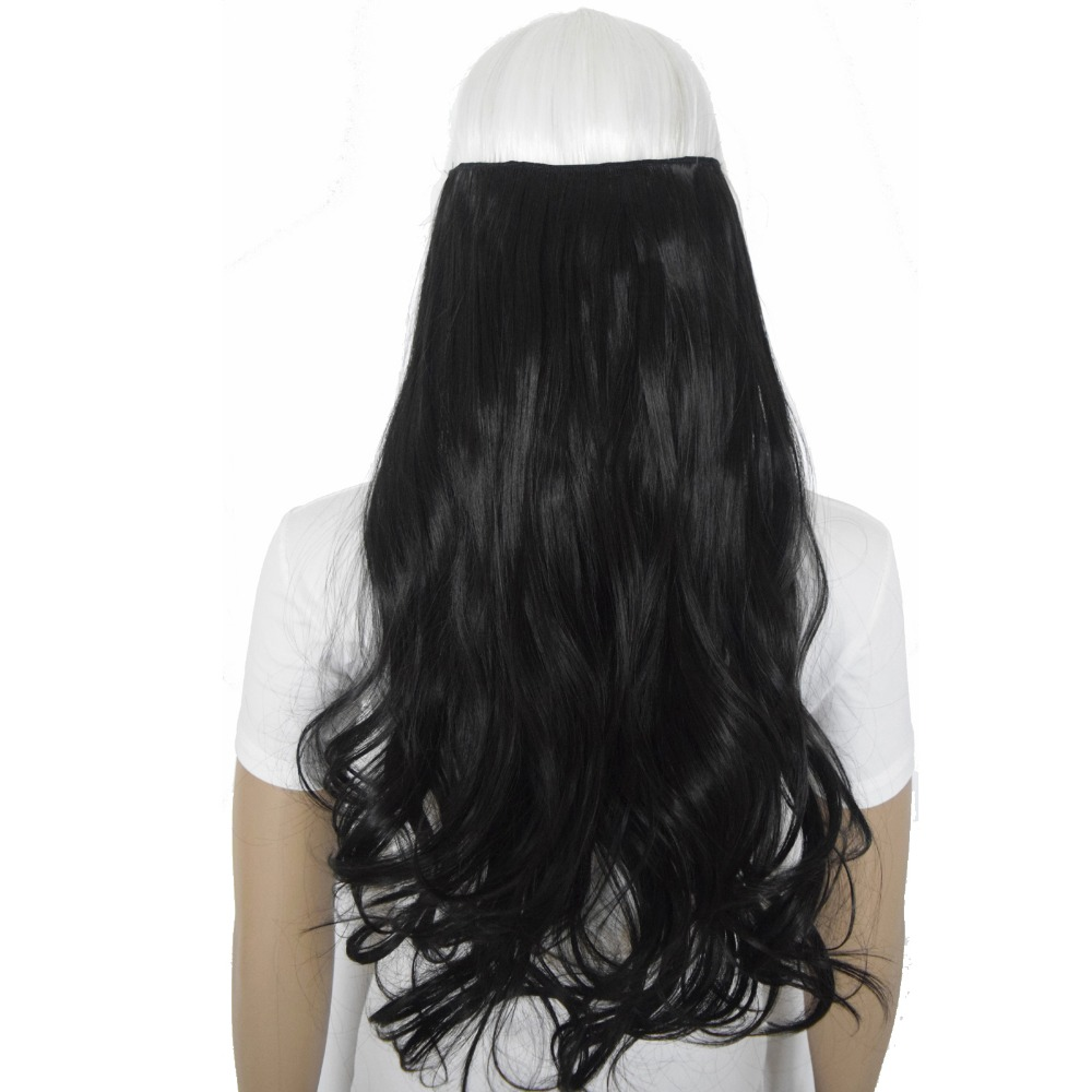 TOPREETY Heat Resistant Synthetic Hair Fiber 120gr Wavy 5 clips clip in Hair Extensions 5002