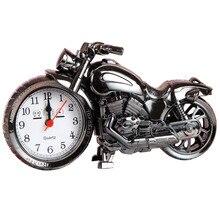 1 Uds. Reloj despertador creativo Retro para motocicleta, decoración del hogar, artesanía 3D, figuras de motor ferroviario, suministros de decoración para el hogar