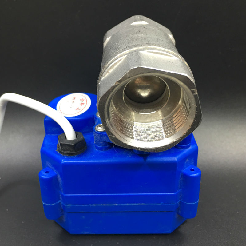 Motor Operated Valve 2 Way BSP 3/4'' Stainless Steel Electric Ball Valve DC12V 3 Wires CR02 Wiring DN20 Electric Shut Off Valve 3 4 3 way stainless steel ss304 pneumatic electric ball valve