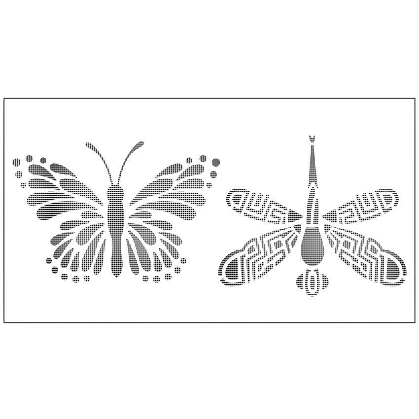 Diy Haiwan Rama Rama Dragonfly Lukisan Dinding Stensil Plastik Pad Bunga Cake Mold Cupcake Fondant Baking Alat Acuan Fq4114