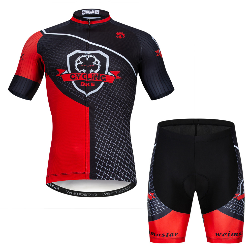 Summer Men Cycling Jersey Set Breathable MTB Bicycle USA Skull Cycling Clothing Mountain Bike Wear Clothes Maillot Ropa Ciclismo|Cycling Sets| |  - title=