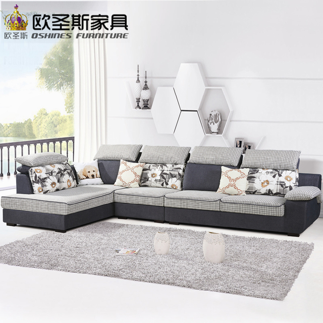 Fair Cheap Low Price 2017 Modern Living Room Furniture New Design L Shaped  Sectional Suede Velvet