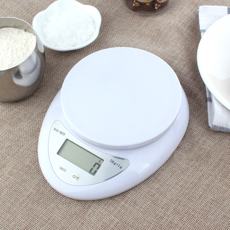 SILIKOLOVE Kitchen 5000g/1g 5kg Food Diet Postal Kitchen Scales Balance Measuring Weighing Scales LED Electronic Scales