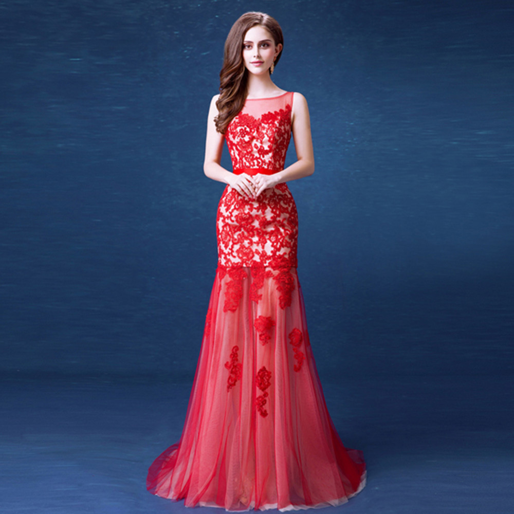 Compare Prices on Long Red Prom Dresses- Online Shopping/Buy Low ...