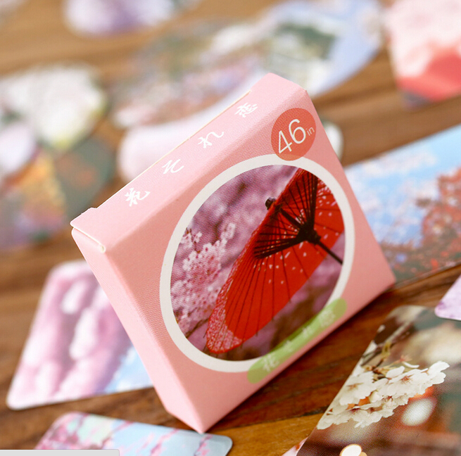Japanese Style Love of Flower Label Stickers Decorative Stationery Stickers Scrapbooking DIY Stickers Diary Album Stick Lable ночная рубашка the flower of love