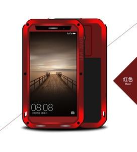 Image 3 - AMO MEI Para HUAWEI companheiro 8 companheiro 9 P9 P10 mais Poderosa Shockproof Dirtproof Metal Case capa do telefone de vidro Temperado