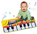 Multi-function Baby Music Sport Game Play Singing Mat 72*28cm Kids Piano Keyboard for Animal Toy musical Carpet Crawling playmat