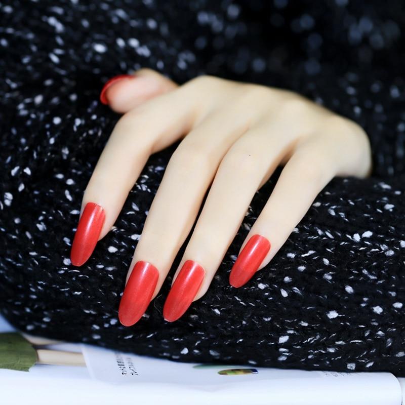 populaire ovale top faux ongles couleur pure longue taille artificielle nail conseils reine. Black Bedroom Furniture Sets. Home Design Ideas