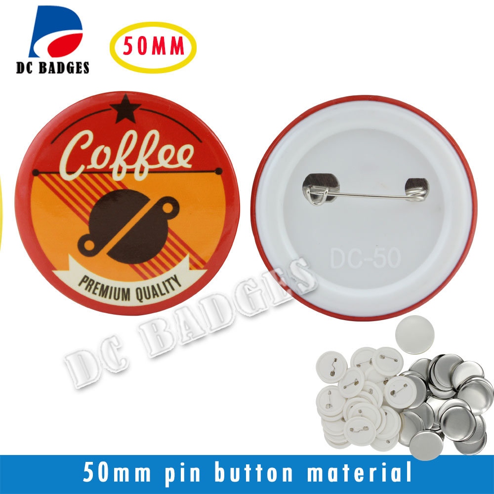 Factory Hot Selling 2(50mm) 200sets  Plastic Pinback Badge Button Material цена 2016