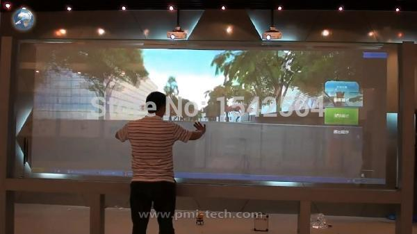 Best price 22 inch touch film capacitive 2 points touch foil film for window advertising