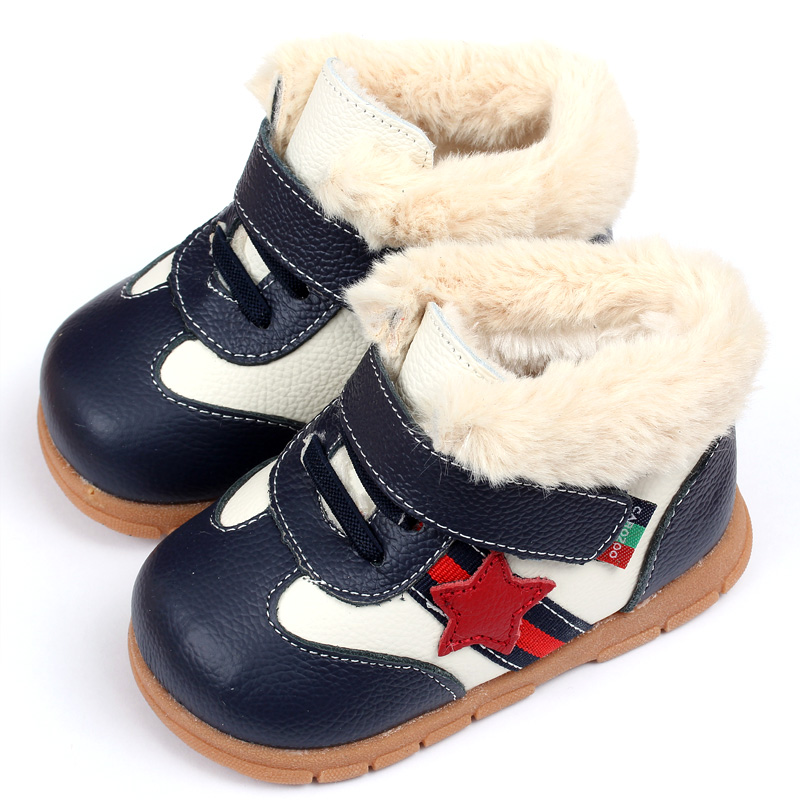 ФОТО 2015 Keep Warm Baby Girl Boy Snow Boots Soft Leather Baby Shoes Winter Baby Boots For Girl Infant Kids Baby First Walkers Shoes