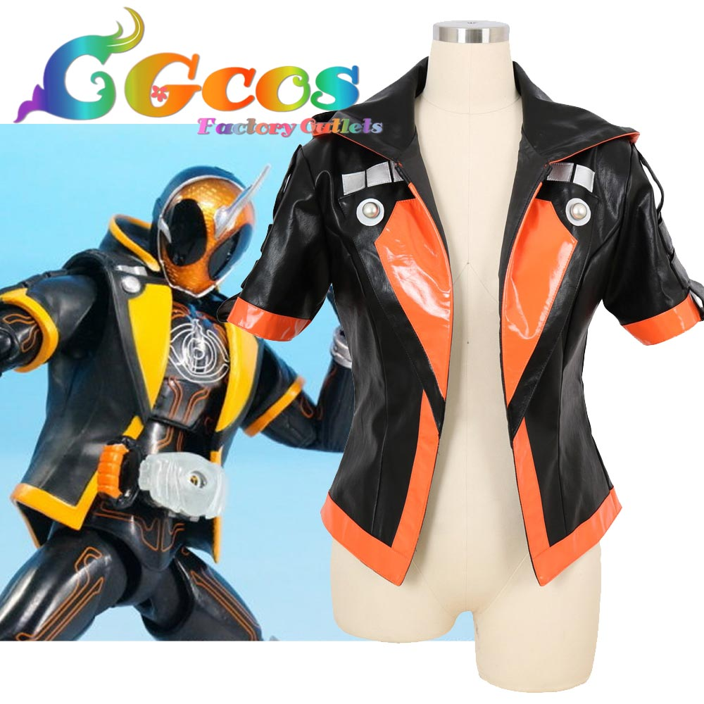 CGCOS Free Shipping Cosplay Costume Kamen Rider Ghost GHOST SPECTER Masked Rider Black Hoodie Halloween Christmas