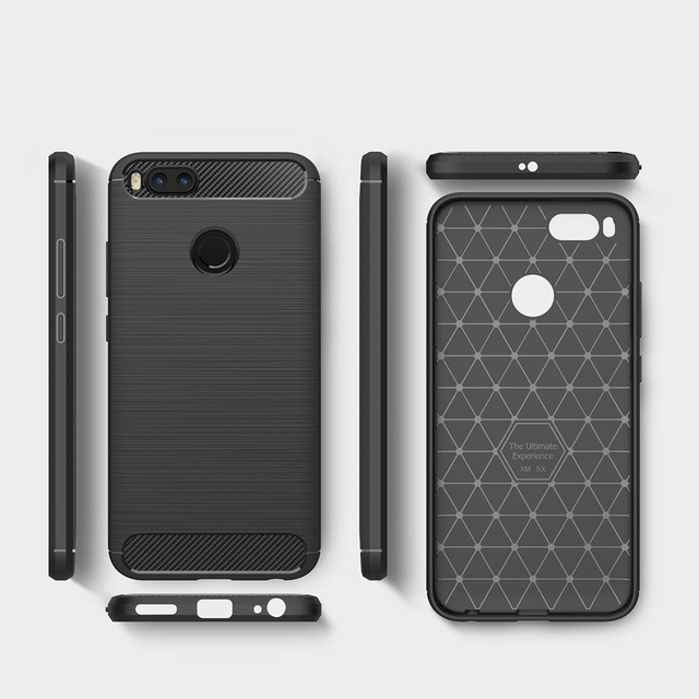 newest 410df 4bd42 US $4.6 |MUXMA Fundas For Xiomi Xiaomi Mi A1 Case Carbon Fiber Brushed  Coque Soft Silicone Cover Shockproof Phone Cases For Xiaomi Mi 5X-in Fitted  ...